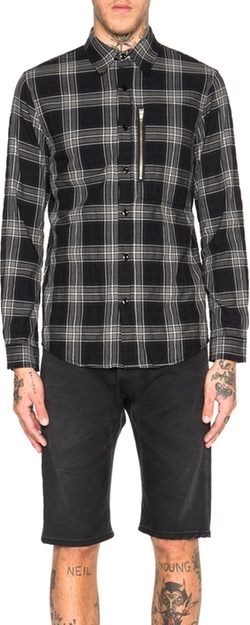 R 13 - Zip Plaid Shirt