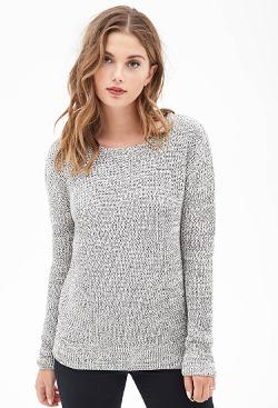Forever21 - Chunky Marled Knit Sweater