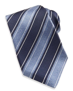 Kiton   - Wide Rope-Stripe Woven Tie