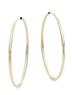 Saks Fifth Avenue - Yellow Gold Hoop Earrings