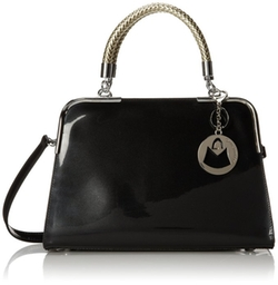 MG Collection - Matana Faux Patent Leather Doctor Tote Purse