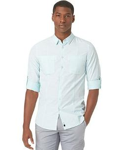 Calvin Klein  - CK One Chambray Ultra-Slim-Fit Shirt