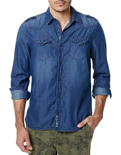 Buffalo David Bitton - Chambray Dot Sportshirt