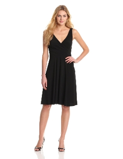 Isaac Mizrahi - Petite Sleeveless V-Neck Dress