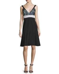 J. Mendel - Sleeveless Fit-&-Flare Dress
