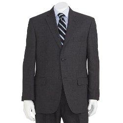 Haggar - Classic-Fit Windowpane Suit