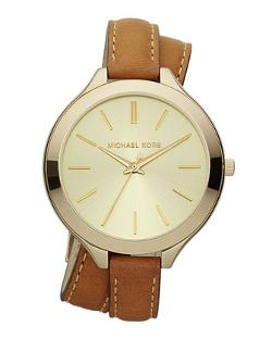 MICHAEL KORS - Double-Wrap Leather Watch