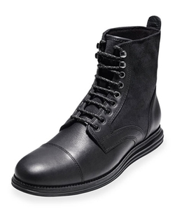 Cole Haan  - LunarGrand Waterproof Lace-Up Boots