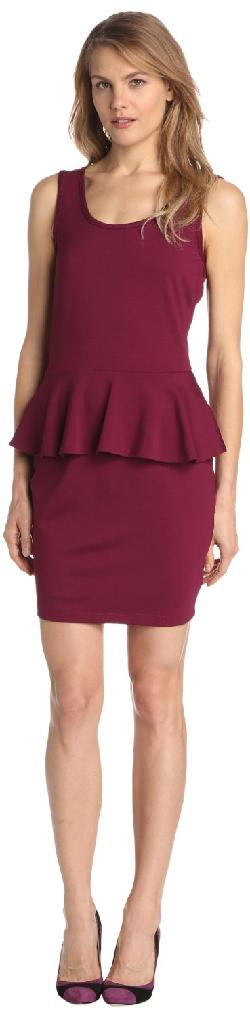 BCBGMAXAZRIA - WHITLEY SLEEVELESS PEPLUM DRESS