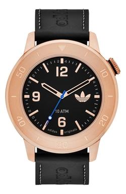 Adidas Originals  - Manchester Leather Strap Watch