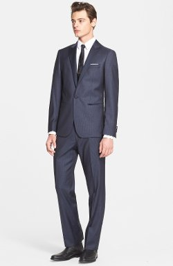 John Varvatos Star USA  - Trim Fit Wool Tuxedo Suit