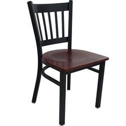 Advantage  - Black Metal Vertical Slat Back Chair