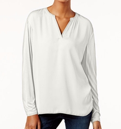 INC International Concepts - Dolman-Sleeve Split-Neck Top