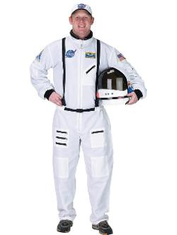 SummitFashions - White Space Suit Costume Astronaut NASA Moon Landing Mens Theatrical Costume