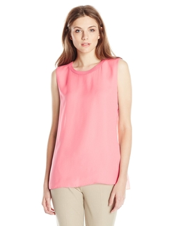 T Tahari - Beckham Pleated Back Blouse
