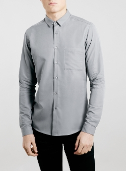 Topman - Premium  Viscose Long Sleeve Smart Shirt