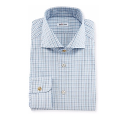 Kiton - Check Woven Dress Shirt