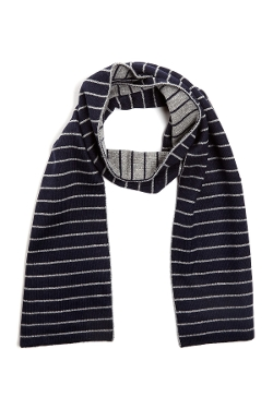 Portolano - Dual Sided Striped Scarf