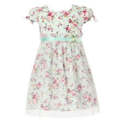 Richie House - Short Sleeve Floral Dress