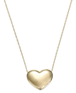 Signature Gold - Puffed Heart Pendant Necklace