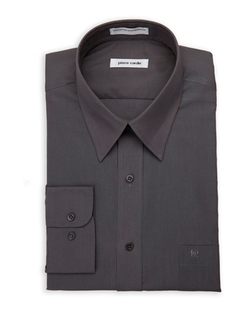 Pierre Cardin - Dark Grey Solid Dress Shirt