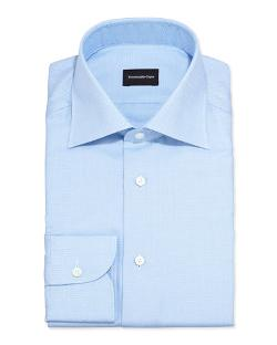 Ermenegildo Zegna	  - Textured Solid Dress Shirt