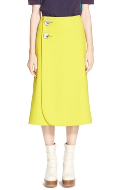 Marni - A-Line Jewel Button Midi Skirt