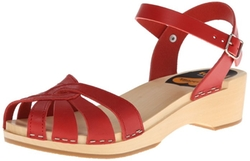 Swedish Hasbeens - Cross-Strap Debutant Platform Sandals