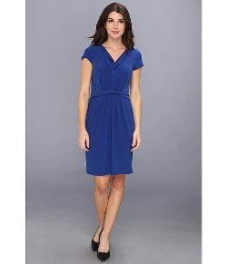 Ellen Tracy - Cowl Neck Crepe Dress