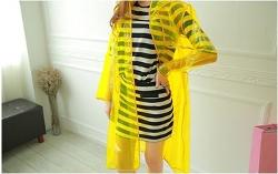 Plastic raincoats  - Yellow disposable plastic raincoats for fashion ladies