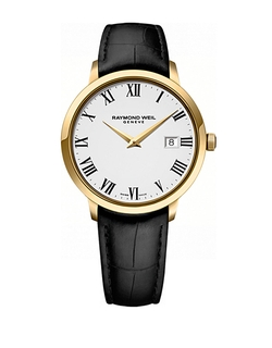 Raymond Weil - Goldtone And Leather Watch
