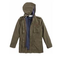 Treasure & Bond - 2-In-1 Hooded Military Jacket