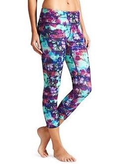 Athleta - Floral Fade Sonar Capri Pants