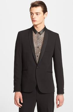 The Kooples  - Fitted Shawl Lapel Tuxedo Blazer