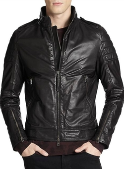 J. Lindeberg - Tyrone 51 Waxy Leather Jacket