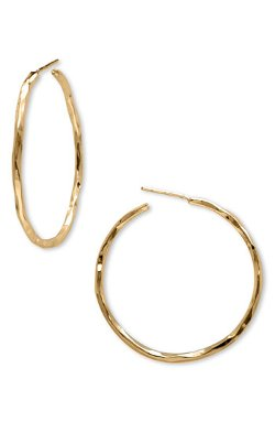 Argento Vivo - Medium Hammered Hoop Earrings