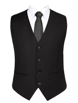 King Ma - Single-Breasted Suit Vest