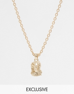 Asos - Chained & Able Mini Jesus Necklace