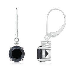 Angara.com  - Round Enhanced Diamond Earrings