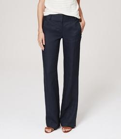 Loft - Linen Wide Leg Trousers