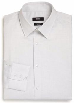 Hugo Boss - Regular-Fit Dot-Print Dress Shirt