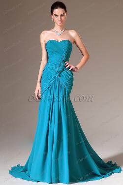 eDressit  - Blue Strapless Sweetheart Prom Gown