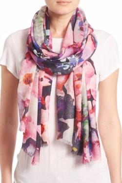 Bindya  - Fall Floral 1 Cashmere & Silk Scarf