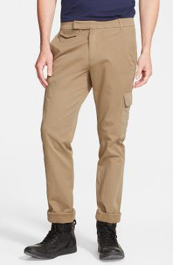 Band of Outsiders - Slim Fit Cargo Pants with Corduroy Trim