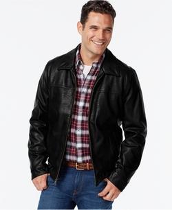 Tommy Hilfiger  - Faux-Leather Open-Bottom Jacket