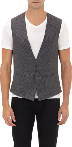 John Varvatos - V-Neck Stripe Vest