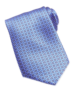 Stefano Ricci  - Neat Medallion Pattern Silk Tie