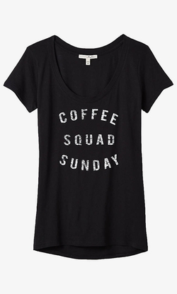Express  - One Eleven Coffee Squad Graphic T-Shirt