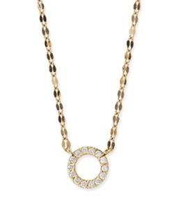 Lana - Diamond Circle Pendant Necklace