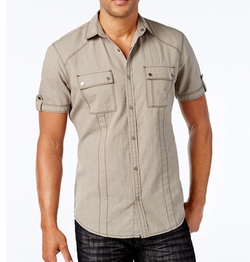 INC International Concepts - Helix Short-Sleeve Shirt
